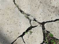 Concrete crack that needs repaired using epoxy