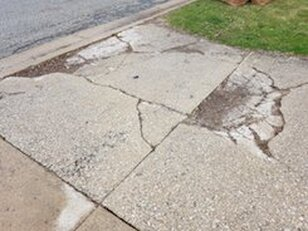 Cracked Concrete Driveway in Pittsburgh, PA
